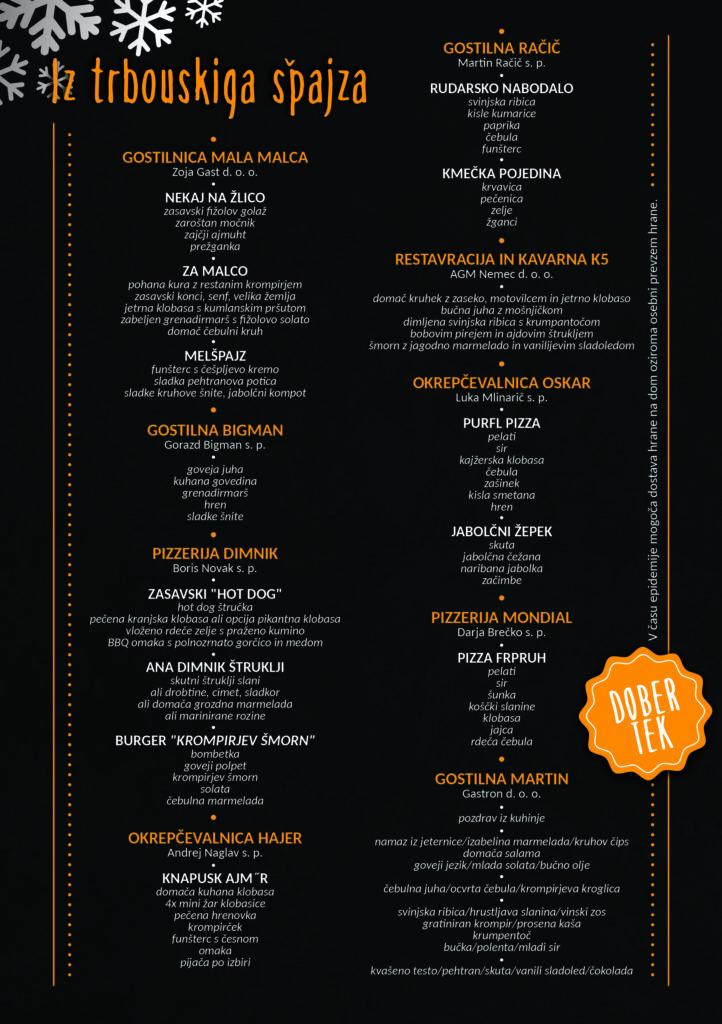 Kulinaricni festival menu