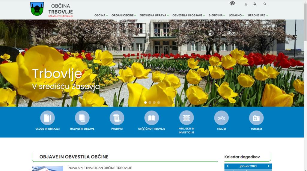 Nova spletna stran Obcine Trbovlje