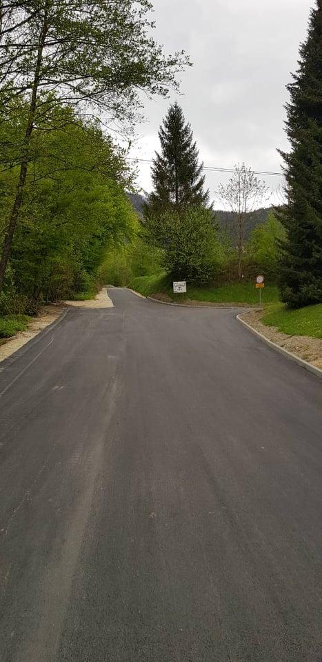 asfaltirana cesta pokopalisce Brin