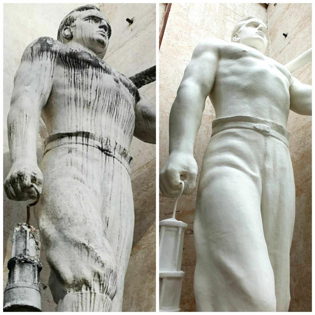 Pred in po obnovi